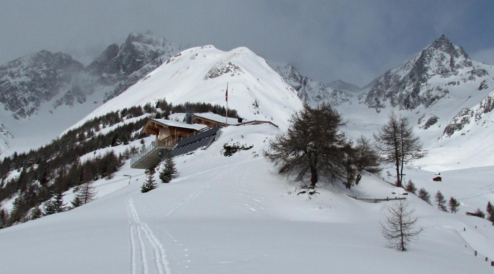 Nilljochhütte im Winter