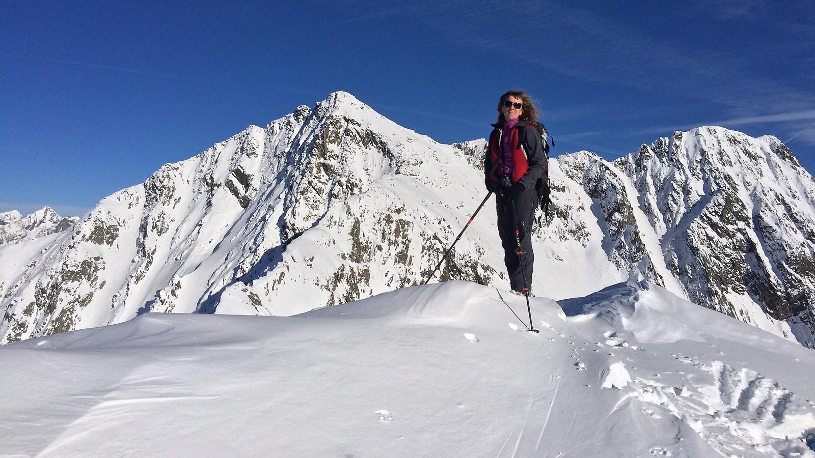 Gipfel Hiedere Höhe