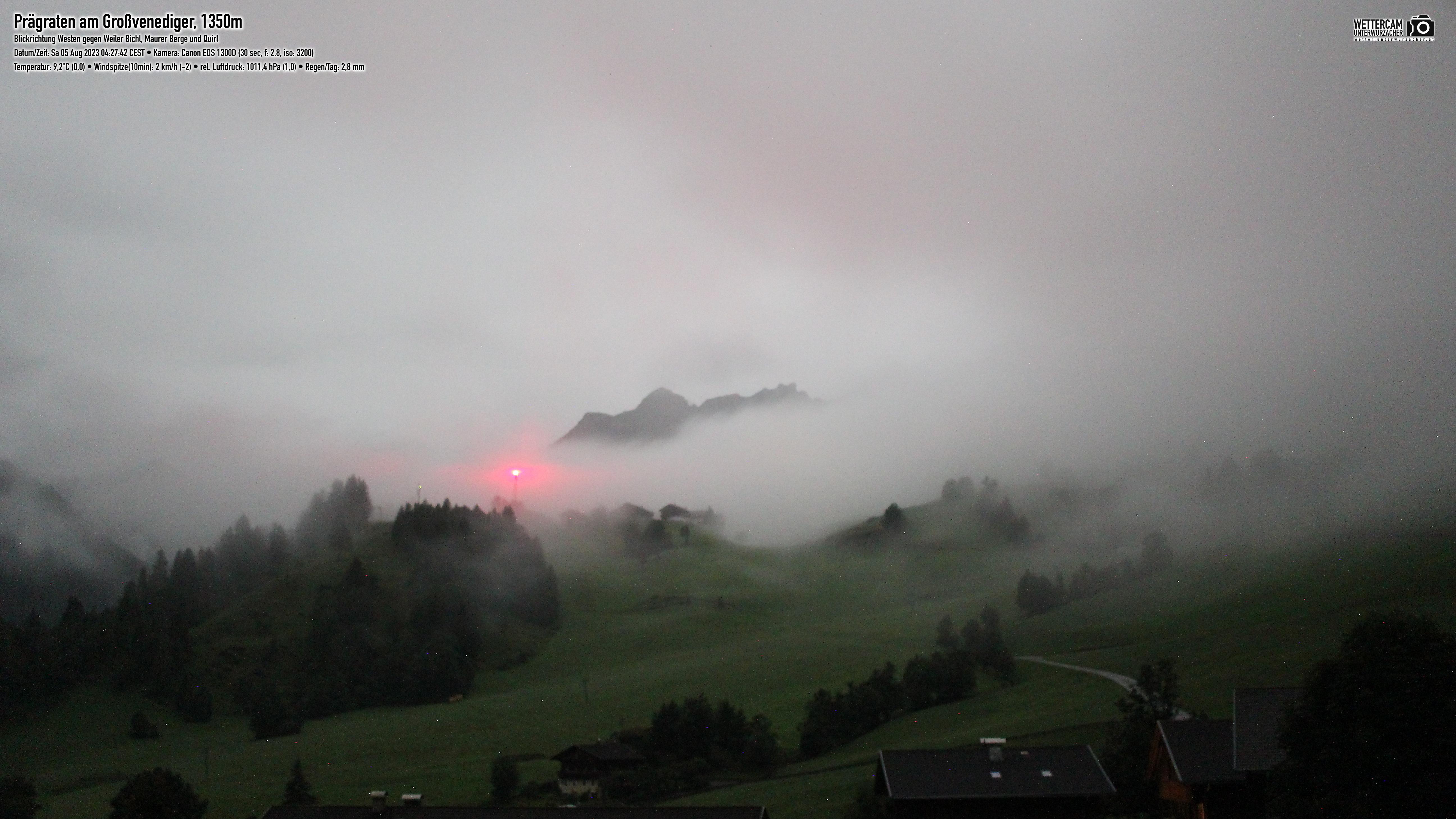 Webcam Prägraten am Großvenediger (1.350m)  Richtung Westen